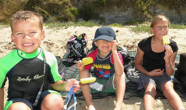 ニュージーランドの家族写真