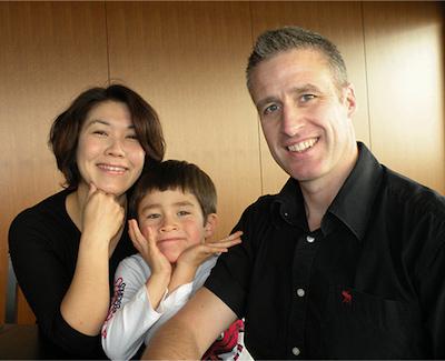 ジェレミー先生の家族写真